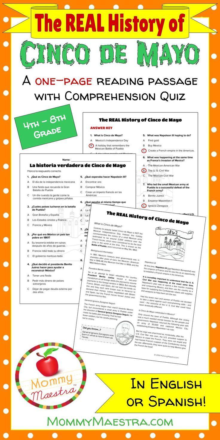 The Real History Of Cinco De Mayo Cinco De Mayo De Mayo Reading Passages