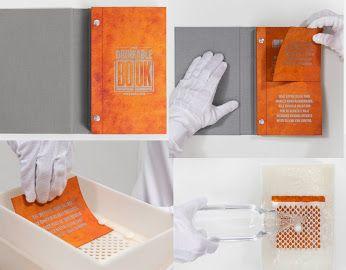 """El """"libro potable"""", una herramienta para filtrar agua eliminando hasta 99.99% de bacterias. Cada libro se imprime en papel de filtro avanzado tecnológicamente capaz de eliminar las enfermedades mortales ocasionadas por aguas no potables, ya que está recubierto con nanopartículas de plata, cuyos iones matan activamente enfermedades como el cólera, la fiebre tifoidea y E.coli."""