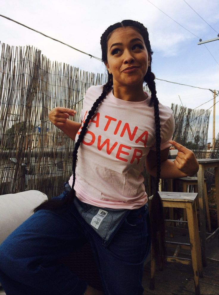 Gina Rodriguez Latina - Soft Pink Latina Power Tee – Jen Zeano Designs - Latina Shirt - Jane The Virgin