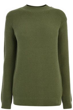 This think knitted jumper features a turtle neck, long sleeves and all-over basket weave knit. Length of jumper, from shoulder seam to hem, 68cm approx. Height of model shown: 5ft 10 inches/178cm. Model wears: UK size 10.Fabric:Main: 100.0% Cotton.Wash care:Machine WashProduct code: 02258928 £38.00
