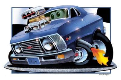Car Cartoons Cartoon Muscle Car Drawings