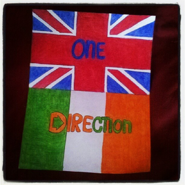 british flag and irish flag