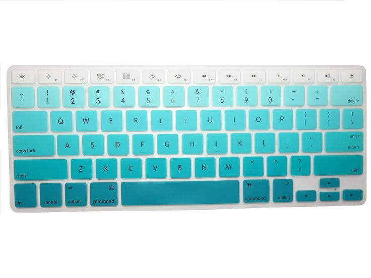 """Amazon.com: Llamamia 3 Silicone Keyboard Covers Skins for Macbook 13"""" Unibody / Macbook Pro 13"""" 15"""" 17"""" with or without Retina Display / New Macbook Air 13"""" / Mac Wireless Keyboard (New Rainbow A/Gradient Blue/Gradient Purple): Computers & Accessories"""