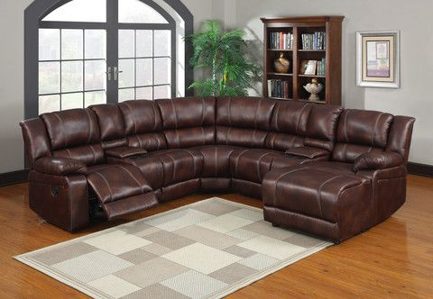 Classic Brown Leather Sectional