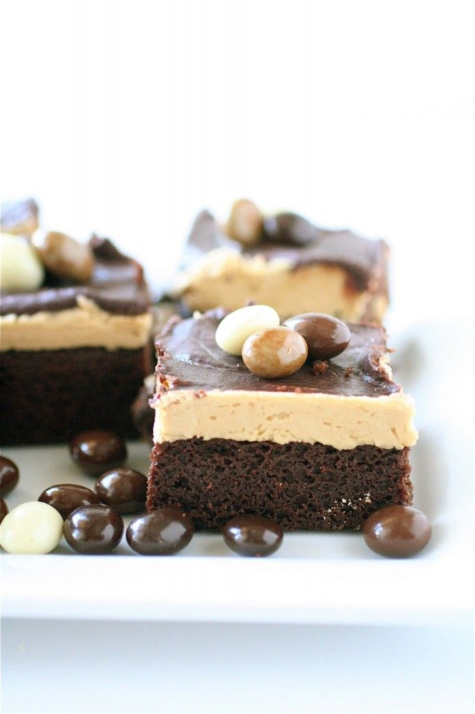 Triple Layer Cappuccino Brownies : brownie, espresso buttercream, choc ...