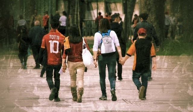 AS Roma fans, v Fiorentina