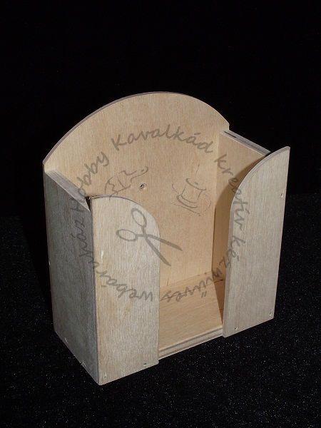 Hobbykavalkad - Webshop - Fa papírzsebkendő tartó kicsi