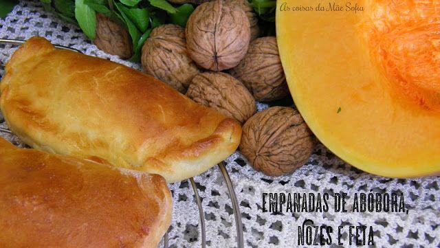 Empanadas de abóbora, noz e feta  Pumpkin, walnut and feta empanadas