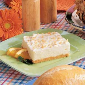 Fluffy Cheesecake Dessert -- This recipe calls for orange juice and I think I'd like to try it sometime using lemon juice and lemon zest in its place...