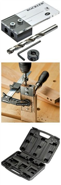 Rockler 3/8'' Dowel Drilling Jig Kit. Rockler.com woodworking tools
