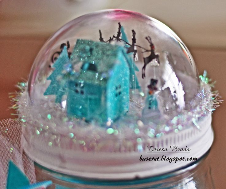 I've been busy!!       These little snow globes are just too cute to keep all to myself, so I decided to make jars to fill with holiday go...