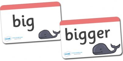 Here's a nice set of word/picture cards for a range of terms relating to size and measure.