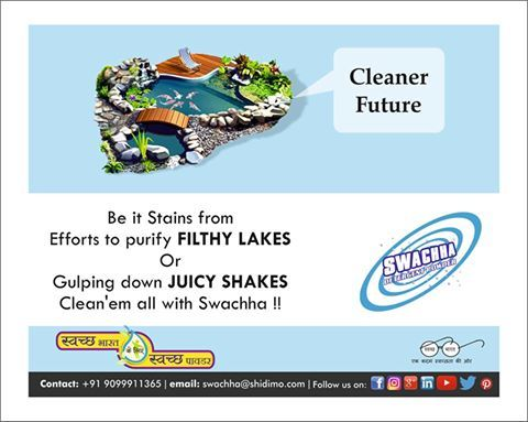 Lack of Cleanliness....Shakes the happiness....  Swachha se Swachhata hai aur Swachhata se happiness...! #Detergent #surat_friendly