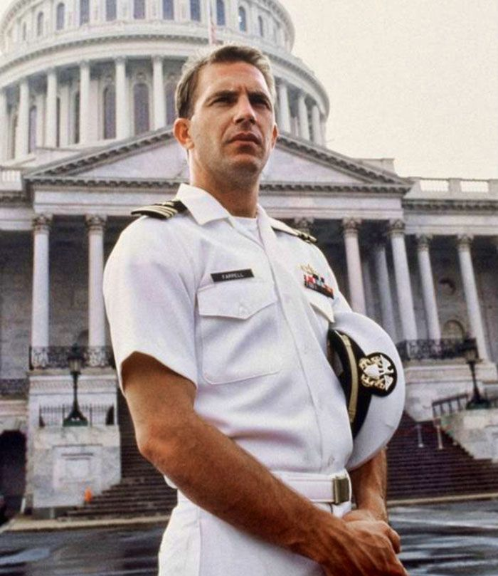 "Kevin Costner as Lt. Cmdr. Tom Farrell in ""No Way Out""   (1987)"