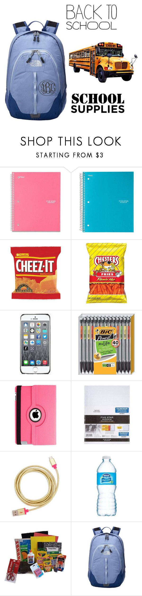 """""""Back to school"""" by emily-moses ❤ liked on Polyvore featuring Fendi, Natico, Mead, ban.do and The North Face"""