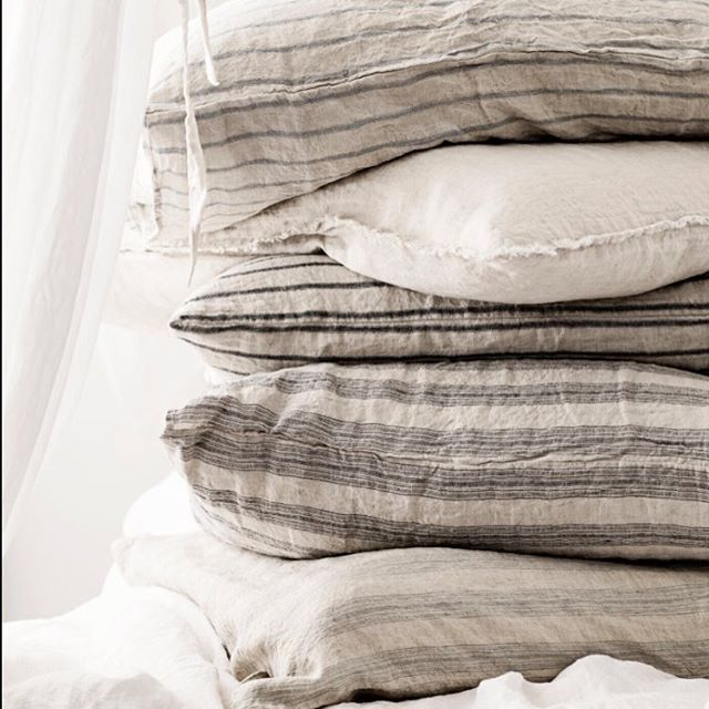 A HMCo take on Valentine's!Wishing you a whole stack of love and linen! Our gorgeous stripes collection captured by @vintagepiken