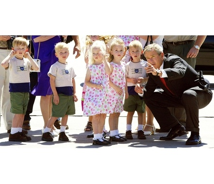 The McCaughey Septuplets Meeting with then President Bush