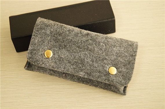 Dark grey felt iphone 6 sleeve felt iphone by JYcustomworkshop