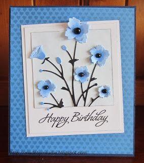 HERO ARTS Tiny Heart Background MEMORY BOX Bella Bouquet PAPER SMOOCHES Salutations