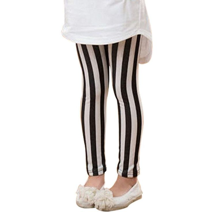 >> Click to Buy << kids legging Girls vertical striped Leggings Pants Trousers Children's Clothing 2017 spring 4-8 years old  white red #Affiliate
