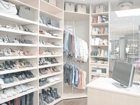Learn must-know details about using shoe racks in closets from the experts at HGTV.com.