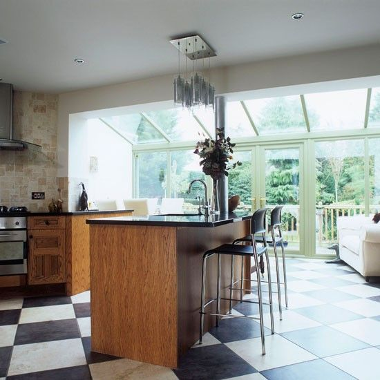 Spacious kitchen-diner conservatory | Conservatories | Conservatory decorating ideas | PHOTO GALLERY | Housetohome.co.uk