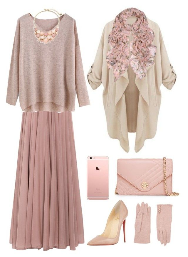 My Kind Of Rosegold by hijab-daily on Polyvore featuring polyvore fashion style Lara Khoury Christian Louboutin Tory Burch Kate Spade Monsoon women's clothing women's fashion women female woman misses juniors