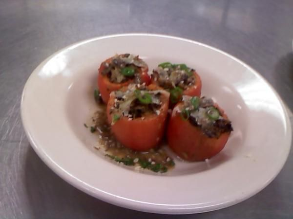 PAELLA-STYLE STUFFED HEIRLOOM TOMATOES