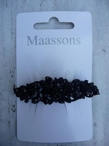MAASSONS Haarspeld zwart filigraan