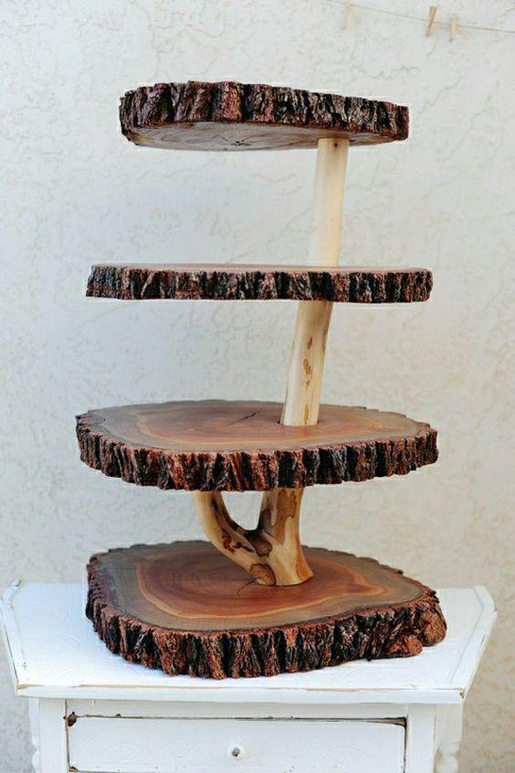 Déco originale avec des rondelles de bois! 20 exemples inspirants…
