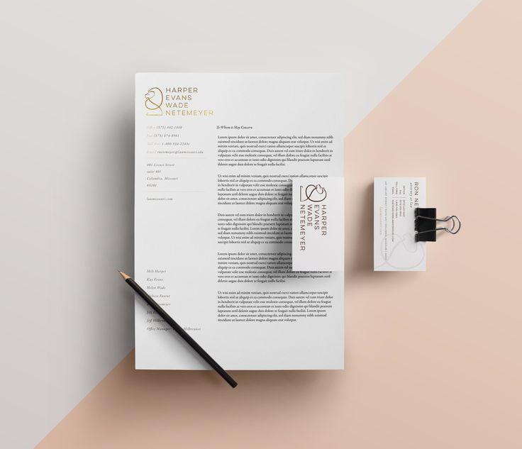 Alastor Professional Corporate Letterhead Template 001026: Harper Evans Wade & Netemeyer Law Firm Letterhead And