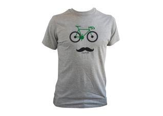 """""""Vélo moustache"""" Tee-shirt homme 100% coton existe en manches longues et pour les juniors..."""