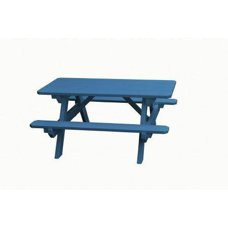 22 inch. Kid's Wooden Picnic Table