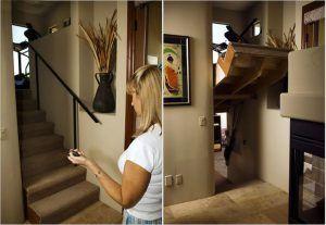 Mit einem herkömmlichen Garagentoröffner öffnet sich der Zugang zu einem geheimen Raum. AWESOME!!!
