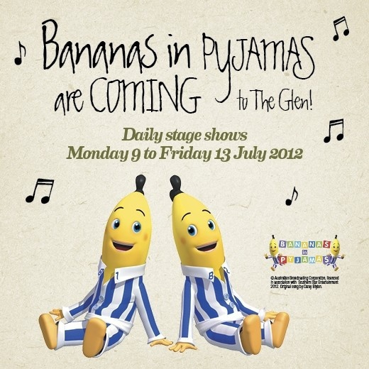 Free Kids Entertainment for July 2013 at The Glen shopping centre in Glen Waverley, Melbourne  #bananasinpajamas #abc4kids