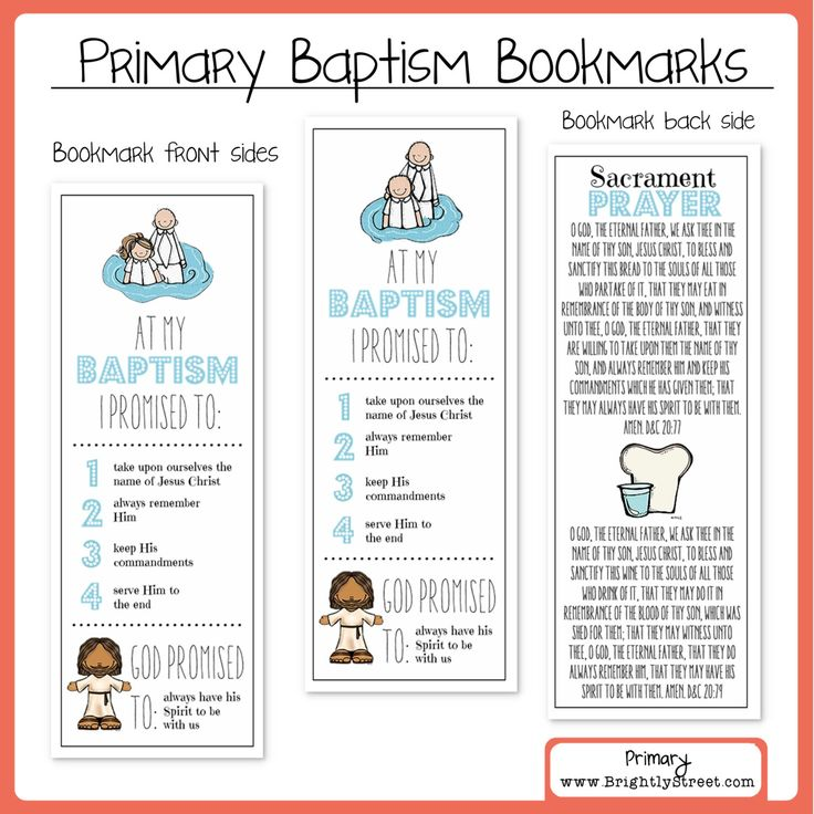 LDS Baptism Bookmarks by BrightlyStreet on Etsy https://www.etsy.com/listing/263528986/lds-baptism-bookmarks