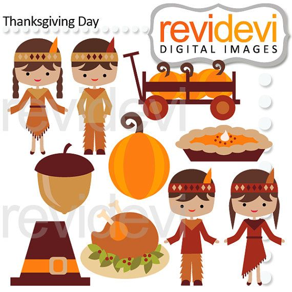 Thanksgiving Day Clipart 08129.. Commercial Use.. by revidevi