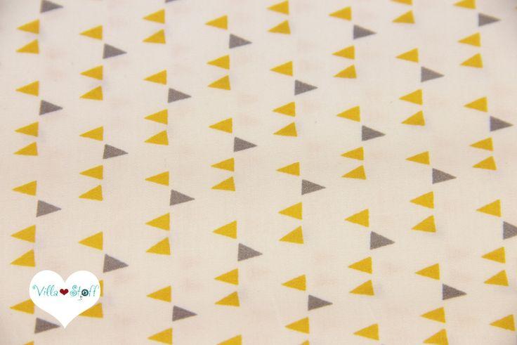 MINIMALISTA ❉ Wimpel Stoff gold grau Art Gallery von Villa ❤ Stoff auf DaWanda.com