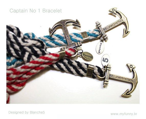 Captain No 1 Bracelet   Summer limted item by Myfunny on Etsy, $25.28