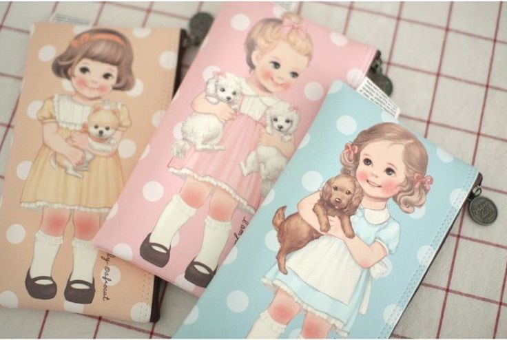 """Paper Doll Mate"" Afrocat Multi Pouch Version 5 105x195mm 3 Colors 