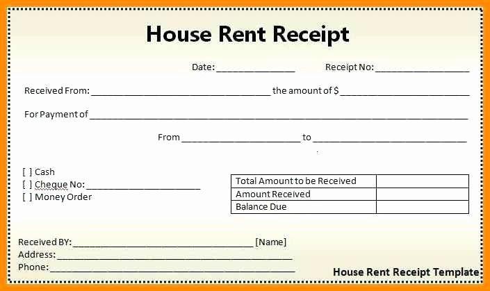 50 Rent Receipt Template Pdf In 2020