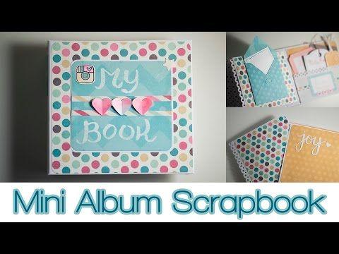 DIY Mini Album Scrapbooking - Rilegatura fai da te - Presentazione - YouTube