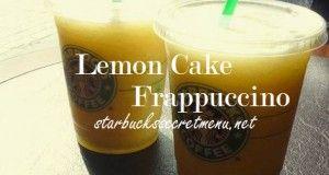 Lemon Cake Frappuccino