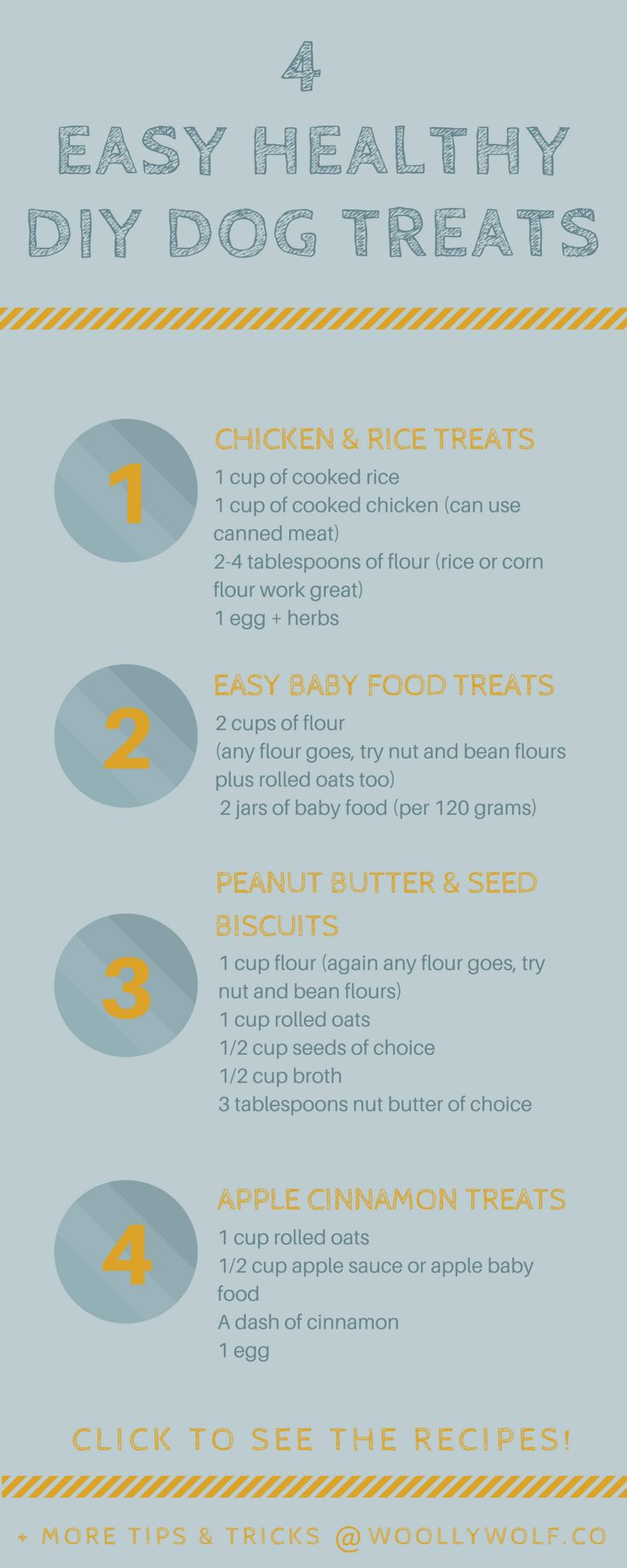 4 Easy Healthy DIY Dog Treat Recipes. Dog training ideas, have fun with your doggo tips.