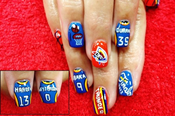 Nails by me christi watson deja vu salon okc okc thunder nails by me christi watson deja vu salon okc okc thunder pinterest prinsesfo Image collections