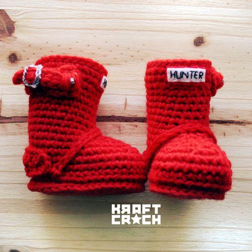 water boots! how super cute! #crochet botas de agua a crochet / ganchillo #ganchillo