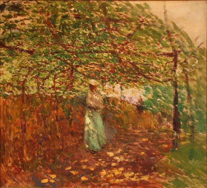 Garden Arbour ~ Antonín Slavíček ~ (Czech: 1870-1910)