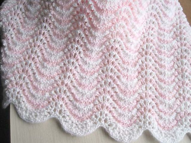 Knit Baby Blanket Wave Pattern : 1000+ images about knitting pattern on Pinterest Cable, Ravelry and Patterns