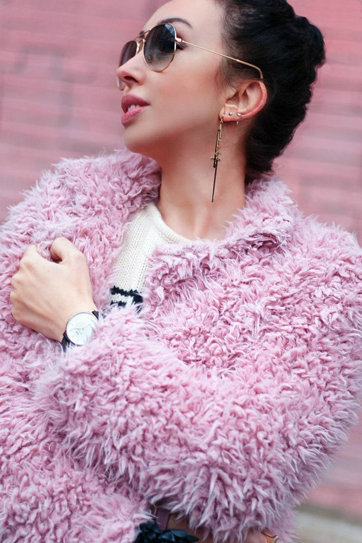 Cute #pink fluffy coat