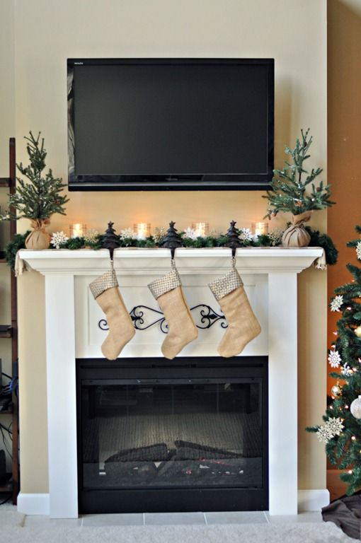 1000 ideas about tv above mantle on pinterest river rock fireplaces tv above fireplace and. Black Bedroom Furniture Sets. Home Design Ideas